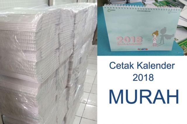 Cetak Kalender 2018 Murah