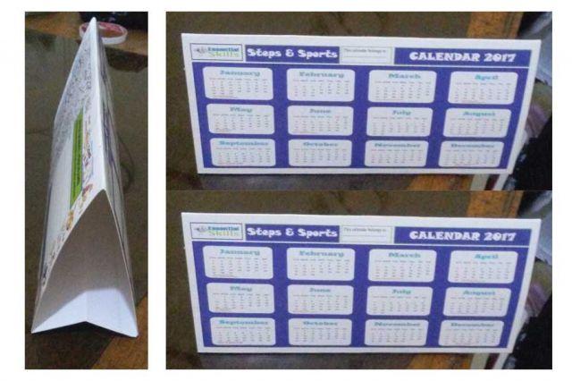 Cetak Kalender meja model tent Card 1 tahunan
